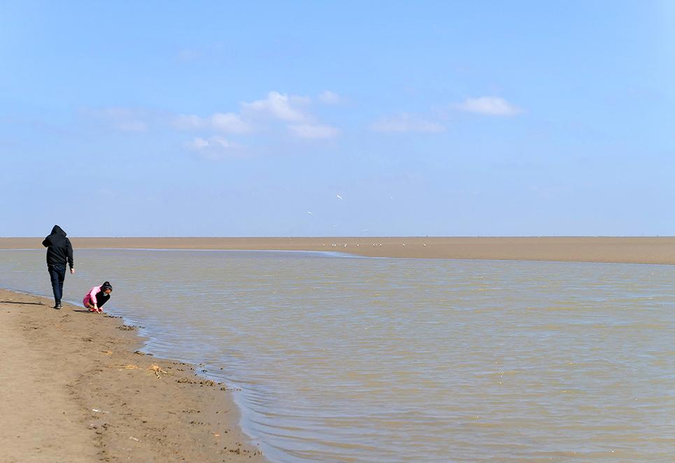 放眼望去,水天一色,这里是鸟的天堂;兴致来了,停下脚步,尝尝当地价廉