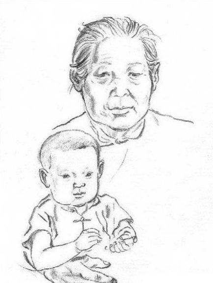 外婆简笔画图片