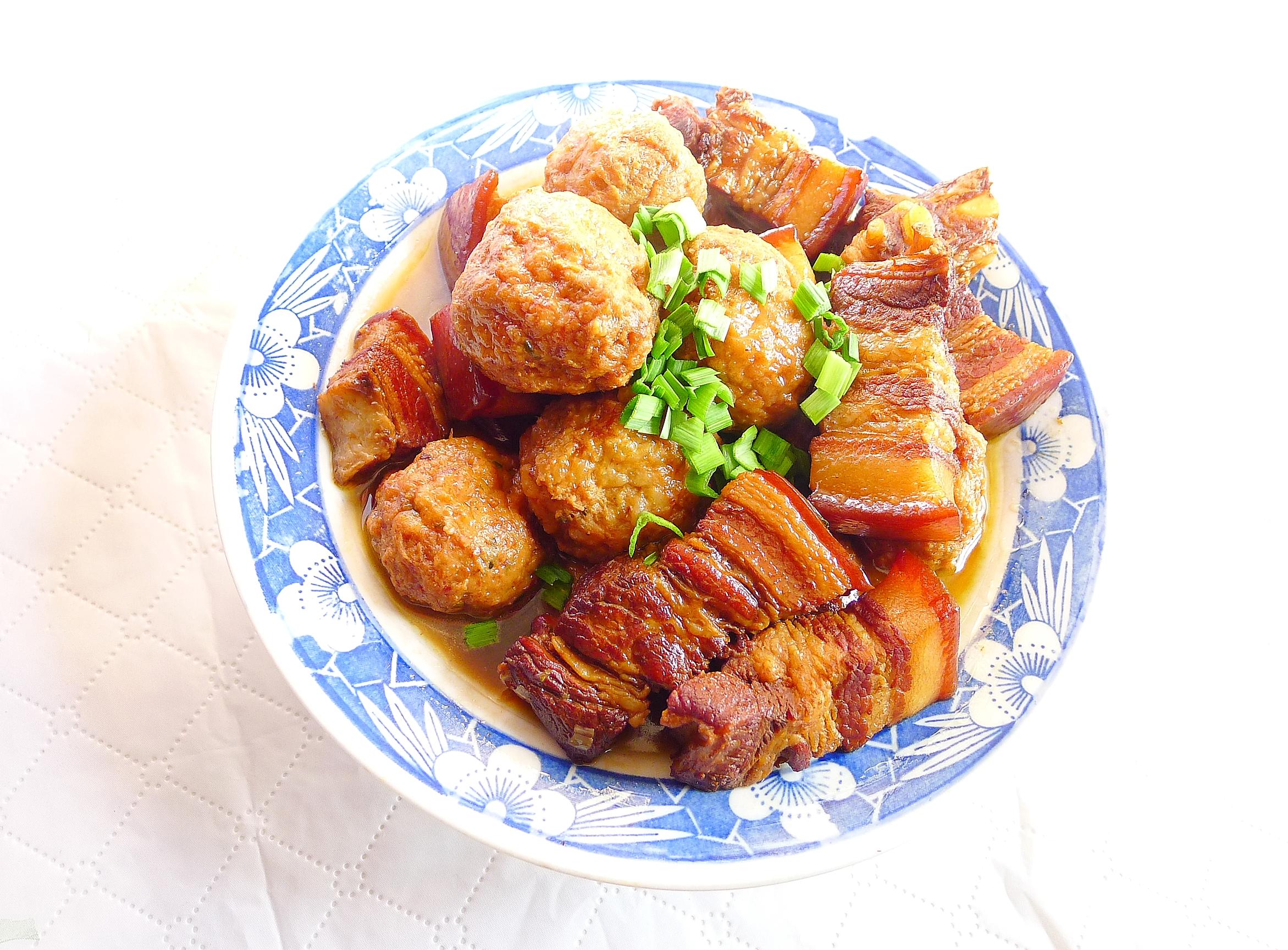 12肉圆红烧肉P1350689.JPG